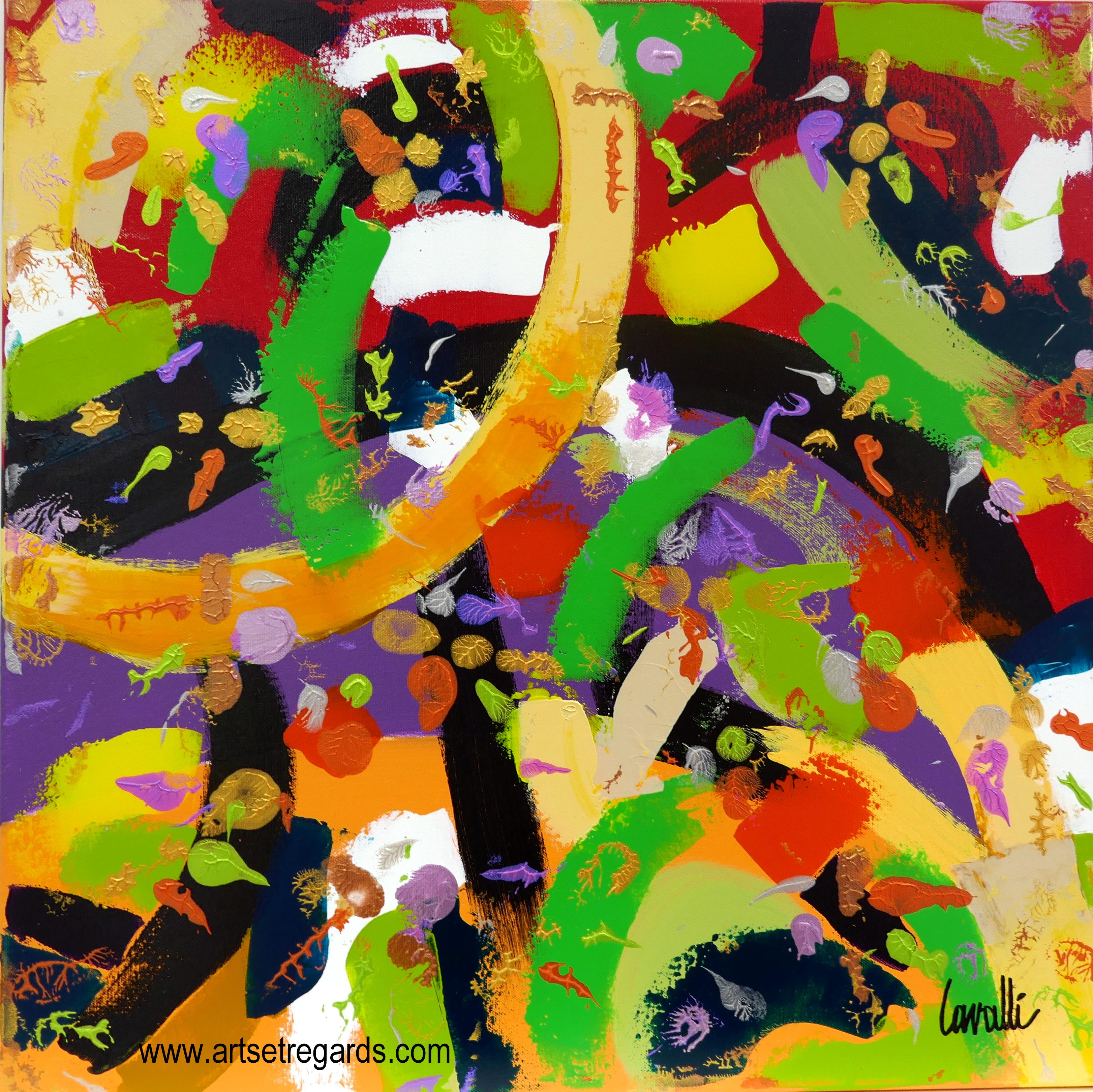 Tableau pascal cavalli sur toile rossoverde 60x60